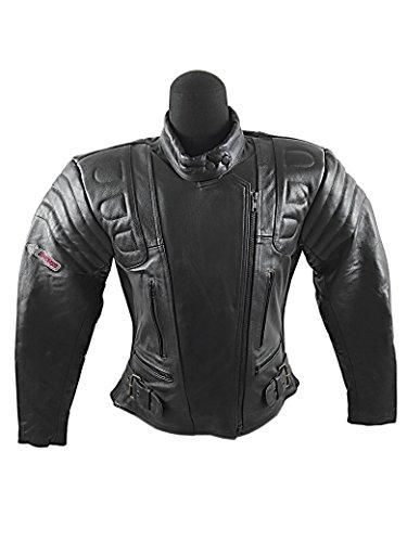 Zerimar KENROD Chaqueta moto mujer| Chaqueta de Moto Piel Chaqueta de Motorista con Protecciones Extraibles |Chaqueta de motociclismo Talla XL