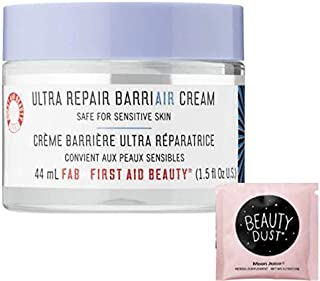FAB Ultra Repair BarriAIR Cream 1.5 Fl Oz! Helps Strengthen The Skin Barrier And Hydrates! Daily Face Cream Moisturizer For Dry Skin & Sensitive Skin! Includes Beauty Dust Travel Packet!