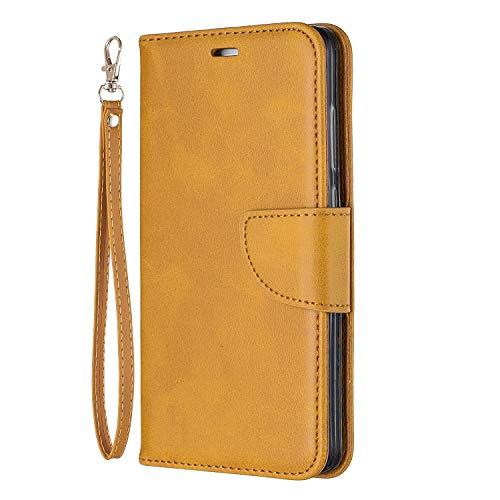 Docrax Xiaomi Redmi Note 4 Leather Cover, Custodia Portafoglio in Pelle Porta Carte Funzione di Stand Antiurto Wallet Case Flip Cover per Xiaomi Redmi Note4 - DOBFE150652 Giallo