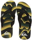 Quiksilver Molokai Layback, Flip-Flop Hombre, Black/Yellow/Green, 44 EU