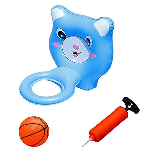 adfafw Baloncesto En Piscina - Juego De Juguetes De Canasta Basket Hinchable con Bola Bomba, Juguetes para Piscina Al Aire Libre Juguete De Baloncesto Inflable para Piscina economical