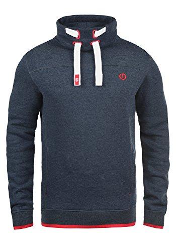 !Solid Benjamin Herren Sweatshirt Pullover Pulli Mit Stehkragen Und Fleece-Innenseite, Größe:L, Farbe:Insignia Blue Melange (8991)
