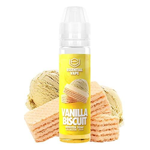 E-Liquid ESSENTIAL VAPE VANILLA BISCUIT by BOMBO | 50ML TPD | VANILLA BISCUIT | Sin Nicotina: 0MG | E-Liquido para Cigarrillos Electronicos - E Liquidos para Vaper 70/30