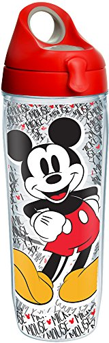 Tervis Disney - Mickey Mouse Name Pattern Tumbler with Wrap and Red...