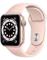 Apple Watch Series 6 (GPS, 40 mm) aluminiowa obudowa złota, sportowa bransoletka w kolorze piaskowy róż