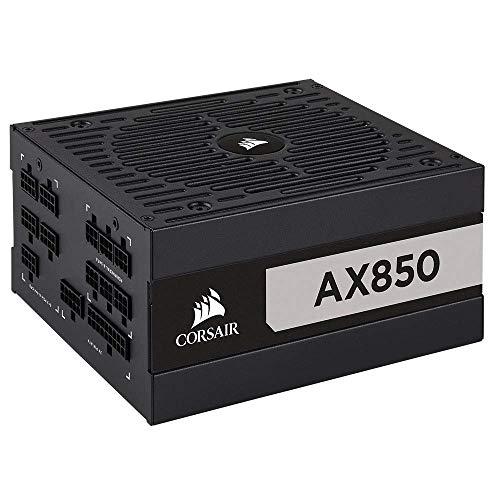 Corsair CP-9020151-UK AX850 80 Plus Titanium voll modulares ATX Netzteil – Schwarz
