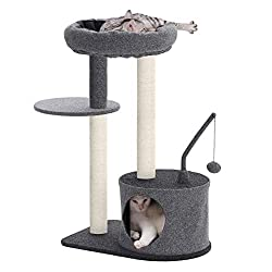 Cat trees help kitty indulge the need to climb and scratch.