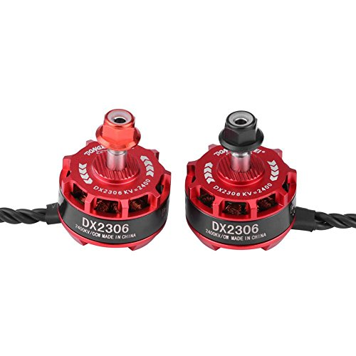 RC Drone Brushless Motor, 4 Pcs DX2306 2400KV 2-4 S CW CCW Metall Motor für X210 X220 250 Drone