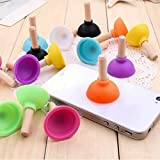 5Pcs/Set Funny Mini Pumping Toilet Phone Sucker Stand Toys For Children Kids Adult Fun Plunger Holder For Cell Phone Gift
