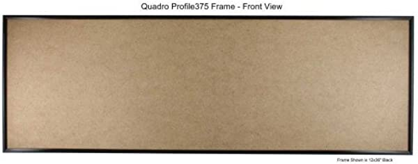 Quadro Frames 12x24 Inch Picture Frame Black Style P375 3 8 Inch Wide Molding