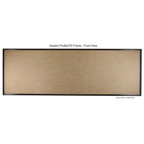 Quadro Frames 12x24 inch Picture Frame, Black, Style P375-3/8 inch Wide Molding