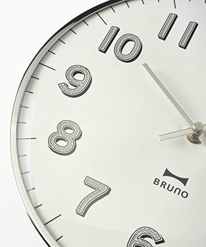 BRUNOブルーノ電波スリムウォールクロックシルバー時計掛時計かけ時計電波おしゃれ電波時計掛け時計アナログ時計壁掛けおしゃれお洒落お祝いかわいいランキングプレゼントギフト贈り物2760330BCR018-SV