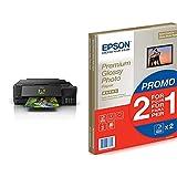 Epson Ecotank Et-7750 - Impresora, Color Negro + C13S042169 - Pack De 30 Hojas De Papel Fotográfico A4