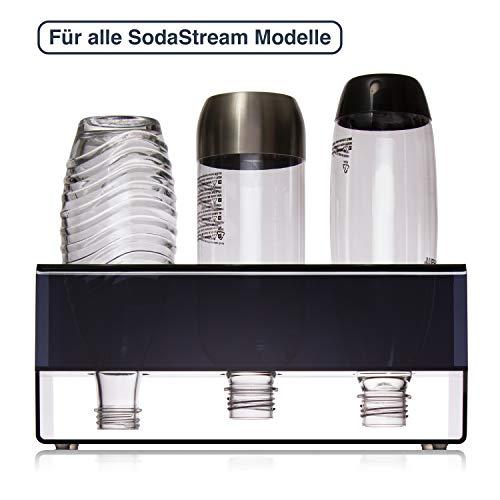 BAURENA® - SodaStream Flaschenhalter mit Abtropffläche - Stabiler Halt - Universal Abtropfhalter für Crystal, Power & Easy Flaschen - Schnelle Reinigung