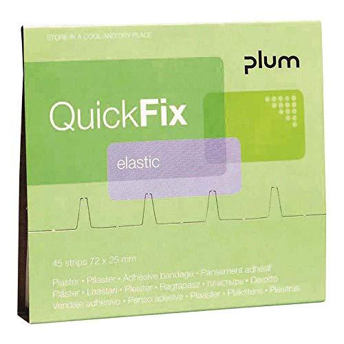 PLUM 5512 QuickFix Nachfüllpack mit Textilen Pflasterstrips 45 x Elastisch