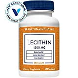 Lecithin 1200mg Natural Combination of Essential Fatty Acids (Linoleic) to Support Brain Nerve Function (90 Softgels) by The Vitamin Shoppe