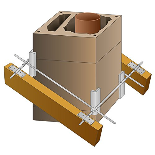 PremiumX Schornsteinhalter M10 Sparrenhalter für Schornstein Kamin-Dach-Befestigung-Set Kaminhalter Kaminsparrenhalter Schornstein-Dachdurchgang-Halterung universal einsetzbar