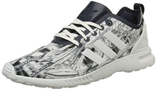 adidas Damen Zx Flux Smooth Sneakers, Blanco - Blanc (Legend Ink S10/Legend Ink S10/Core White), 36 EU