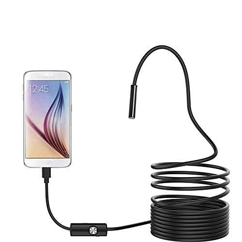 QMMB Endoscopio De La Cámara, Cámara De Inspección Endoscopio, Cámara De 2MP HD 1080P 8 Ajustable De Luz Blanca Luces LED A Prueba De Agua Cámara De Inspección Endoscopio para Android,2m