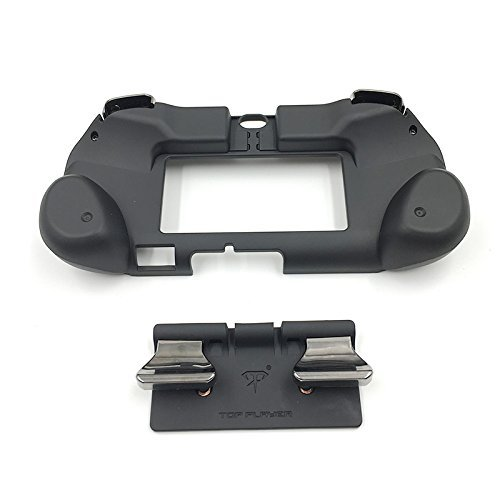 New Matte Non-Slip L3 R3 Hand Grip Handle Joypad Stand Case with L2 R2 Trigger Button Grips Holder for PSV 2000 PS VITA 2000 Game Console-Black.