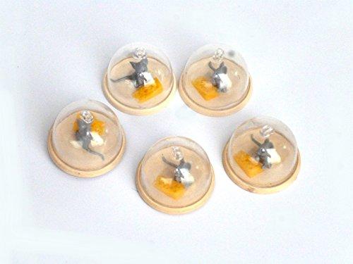 Juego de 5en miniatura–Quesera Plástico material de manualidades, manualidades accesorios