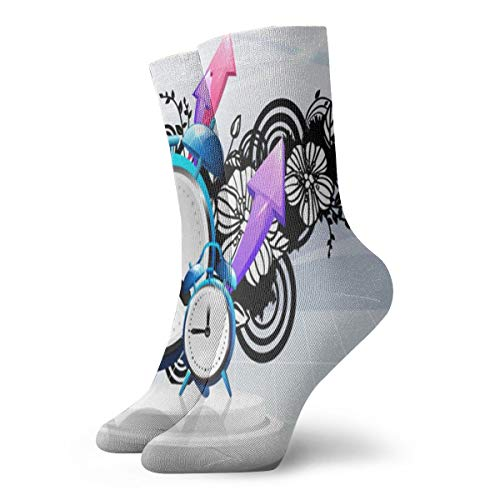 BJAMAJ Unisex sokken stijlvol versierd wekker interessant polyester bemanning sokken volwassen sokken katoen