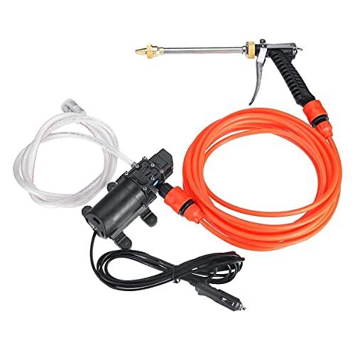 LHQ-HQ 12V de alta presión de pulverización portátil Lavadora del coche eléctrico Limpiador de riego Wash Kit de Limpieza de la bomba inteligente