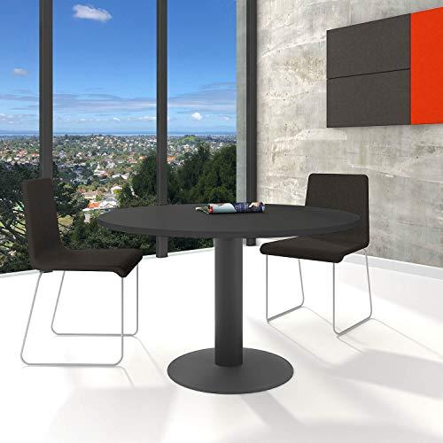 Optima runder Besprechungstisch Ø 120 cm Anthrazit Anthrazites Gestell Tisch Esstisch