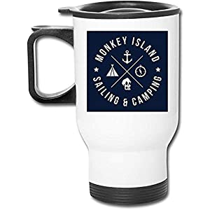 Monkey Island Sailing And Camping Taza de café de vacío de doble pared con vaso inoxidable de 16 oz