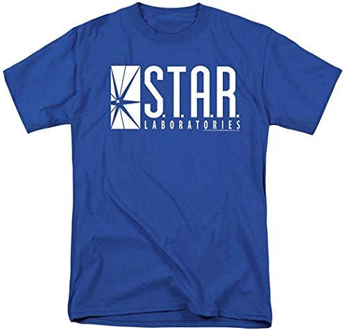 Camisetas de Manga Corta para Hombres y Mujeres Patrón Interesante Flash Star Labs Superhero Star Laboratorios Camiseta Pegatinas M