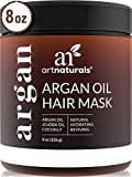 ArtNaturals Argan Hair Mask Conditioner - (8 Oz/226g) - Deep Conditioning Treatment - Organic Jojoba Oil, Aloe Vera & Keratin - Repair Dry, Damaged, Color Treated, Natural Hair Growth - Sulfate Free