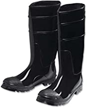 West Chester 8350 9 PVC Steel Toe Boot, Size 9, Black