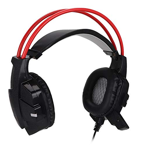 Serounder Gaming Headset,3.5mm All-in-one Wired HD Bass Game Headphone with Large-Diameter Speakers for PC/PS3/PS4 Game Consoles