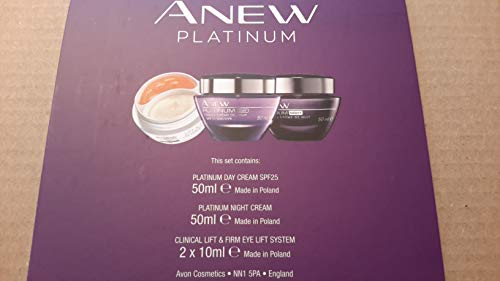 Avon Platinum 3 piece gift set day & night 2x10ml eye lift cream