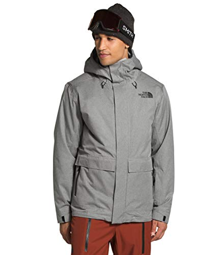 The North Face Men's Clement Triclimate Jacket, TNF Medium Grey Heather, XL