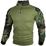 zuoxiangru Camiseta de Combate táctica para Hombres, Camisa Multicam Transpirable Ripstop para Caza Militar Airsoft (Clmc, Tag XXL)