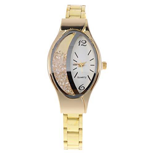 Relógio de pulso-Delicate Women Watche criativo relógio de pulso requintado relógio de quartzo presente de aniversário para mulheres femininas (dourado)