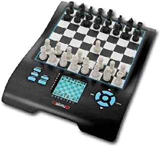 Millennium Europe Chess Champion 8 in 1, Model M800 – Chess, Checkers, Othello / Reversi, Halma, 4 in a Row, Nim, Fox & Geese, and Northcote's Game Electronic Computer Board Set