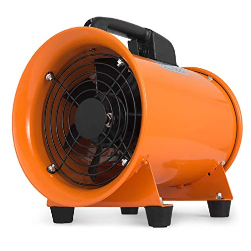 Husuper Ventilador Industrial, 220V, Extractor Aire Industrial, con Pies de Goma Antivibratoria, 200 mm, Ventilador de Admisión Extractor de Aire 230W, Velocidad del Ventilador (máx.) 2800 rpm
