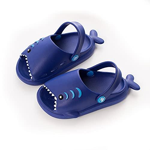 Kinder-Sandalen im Cartoon-Stil, leicht, offene Zehen, Sandalen, Haifisch-Form, Schuhe für Jungen und Mädchen