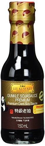 Lee Kum Kee Soja-Sauce dunkel (aus China, natürlich gebraut, ohne Geschmacksverstärker, würzig), 6er Pack (6 x 150ml)