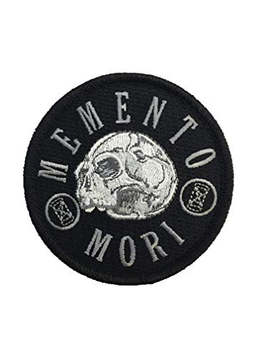 "Memento Mori""Remember Death"" - Embroidered Morale Patch (Black)"