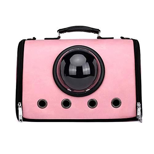 LCSD Hundebett Tragbare transparente Designblasenrucksack-atmungsaktive Handtaschenkatzen-Hundereise der rosa Haustierbeutel-Raumkapsel im Freien Vier Jahreszeiten Universalmode