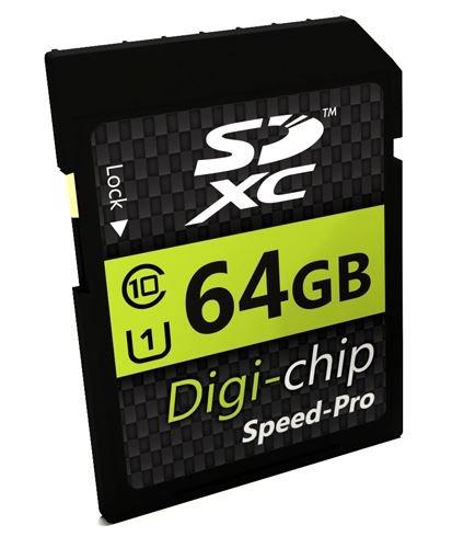 Digi Chip SD-Speicherkarte, 64GB, SDXC Class 10, für Canon EOS M50, EOS M100, EOS M6, EOS M5, EOS 80D, EOS 2000D, EOS 4000D, EOS 9000D, EOS Rebel T7, EOS Kiss M Digitale Spiegelreflexkameras