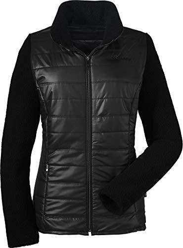 Schöffel Hybrid Fleece La Paz Damen Jacke 40 Schwarz