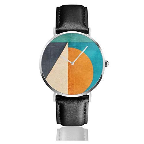 Regata Al Tramonto reloj de cuarzo impermeable correa de reloj de cuero para hombres y mujeres simple reloj casual de negocios
