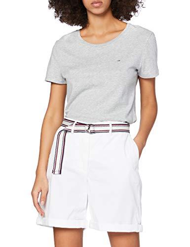 Tommy Hilfiger Damen GMD Cotton Tencel Bermuda Slim Jeans, Weiß (Classic White Yaf), 36 (Herstellergröße: 38)