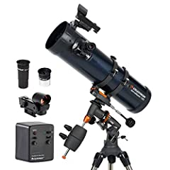 POWERFUL REFLECTOR TELESCOPE: The Celestron AstroMaster 130EQ-MD telescope is a powerful reflector telescope for astronomy beginners. It features fully-coated glass optics, a sturdy and lightweight frame, two eyepieces, a StarPointer red dot findersc...