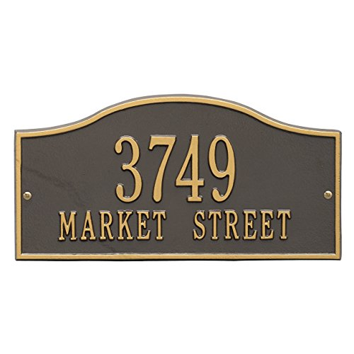 "2 Lines Rolling Address Plaque 15""L x 8""H"