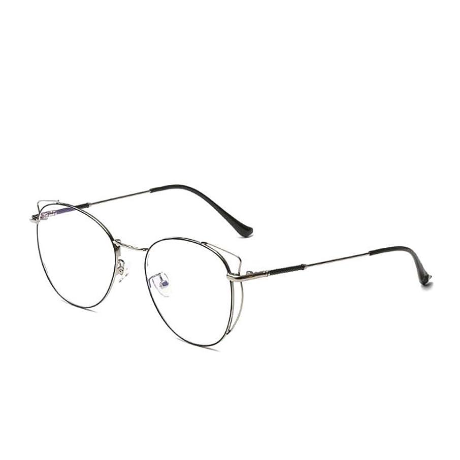 HHL Non-Prescription Anti Blue Light Glasses,Anti Eyestrain,Unisex,Metal Frame Protect Eyes (Color : C)